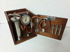 More details for rare 1920's kdg portable 'compound' flow meter in mahogany case w/key. complete