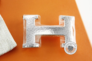 NEW Hermes 064549 Marble H Silver Metal Buckle Phw AUTHENTIC NWT