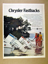 1970 Chrysler Fastbacks outboard motors boats photo vintage print Ad