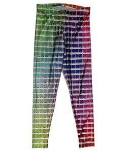 BLACK MILK Hex Colour Print Leggings BLACKMILK -  SIZE L - Large Colour Sample