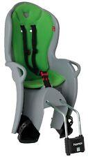 Hamax KISS Fahrrad Kindersitz hellgrau Bezug grün Fahrradsitz NEU