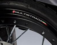 DUCATI SUPERSPORT MOTORCYCLE WHEEL RIM STICKERS TRIM ITALIAN FLAG RED VINYL