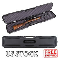 Rifle Shotgun Hard Carry Case Single Gun Storage Box Padded Tactical Hunting NEW