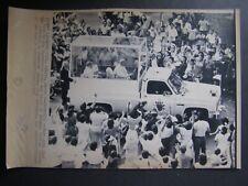 AP Wire Press Photo 1983 Pope John Paul II Panama City Panama in his Popemobile