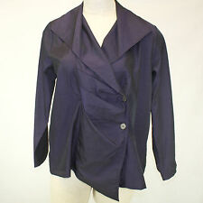 NEW NWT Chalet Fall Winter Plus Size Purple Ombre Pleated Button Wrap Blouse 1X