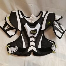 Reebok 5K Lacrosse Shoulder Pads Small White/Black/Lime - New with BONUS