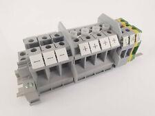Reihenklemmen Block - versch. Durchgangsklemmen auf Hutschiene 16mm², 6mm²
