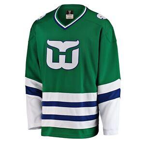 Men's Hartford Whalers Fanatics Branded Premier Breakaway Heritage Green Jersey