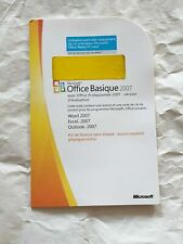 OFFICE 2007 BASIQUE POCHETTE + CLE DE LICENCE