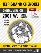 2001 Jeep Grand Cherokee WJ Factory Repair Service Manual