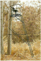 Hunting Deer Guide Gear 16' Swivel Ladder Tree Stand Boar Big Game Hunt Outdoors