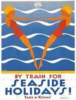 PAINTING SILAS REDCAR YORKSHIRE BEACH ENGLAND SEASIDE ART PRINT POSTER BB8752