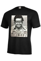 PABLO ESCOBAR ICONIC MUGSHOT T-SHIRT NARCOS ASSORTED COLORS ADULT SIZE S-5XL