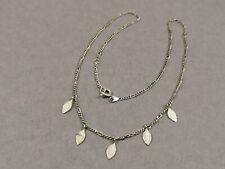 Silber Collier 925 Sterling Halskette im Blatt Dekor