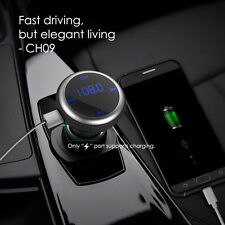 Wireless Bluetooth FM Transmitter Radio Car Kit &Dual USB Car Charger for iPhone