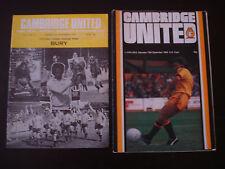 Cambridge United v Bury 1977/78 &  v Chelsea 1980/81 Home Bundle x 2 Programmes