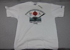 NEW Men's Vintage Mizuno 1998 Olympic Games Nagano Japan  T-Shirt NWT USA