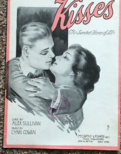 "[COL] Sheet Music ""Kisses (The Sweetest Kisses of All)"" Sullivan & Cowan (1918)"