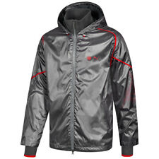 Puma x Ducati Windbreaker Jacket Shiny Nylon Steel Grey Small