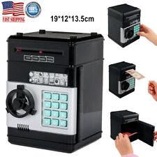 Kids Electronic Piggy Bank ATM Password Money Coin Automatic Safe Saving Box US