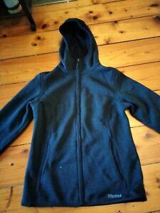 Marmot jacket black knitted fleece women's Medium