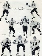 Cfl 1960's Bc Lions Team Photo Collage Black & White 8 X 10 Photo Picture