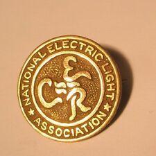 National Electric Light Association Vintage Copper Tone Lapel Pin gift