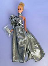 Designer Gown Collection Royal Fantasy Barbie Doll Silver Shimmer Gown 5pc Set