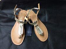 Tommy Hilfiger Landmark  Womens Sandal in Gold size 7