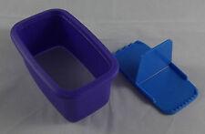 Tupperware D 212 KunstEcke Kunst Eck Ausstechform Anpresshilfe Blau Lila Neu OVP