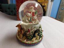 San Francisco Music Box Santa Snow Globe New In Opened Box 31-22591-8-00