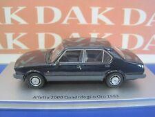 1/43 Modellino Auto Alfa Romeo Alfetta 2.0 Quadrifoglio Oro 1983 Blue by Kess