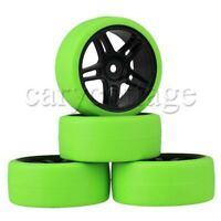 4P Wheel Rim Hex 12mm & Smooth Drift Tyre Tires for RC 1:10 On-road Racing Car