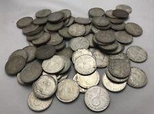 WW2 HINDENBURG1936-1939 SILVER 2 MARK GERMAN COINS - 2 REICHSMARKS - CIRCULATED