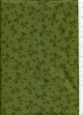 2008 rjr ~ MONOCROMATIC GREEN BOW ~  fabric christmas subtle solids