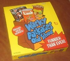 Wacky Packages Old School 2 full box with 24 packs and poster