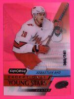 2020-21 UD Synergy Exceptional Young Stars #EY-26 Sebastian Aho /749 Carolina