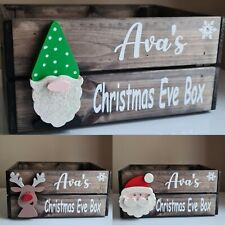 Personalised Christmas Eve Box / Crate. 3 Designs