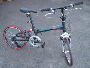 Bridgestone Transit TS-7 DUAL SUSPENTION / Used folding bike / Green color