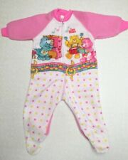 Vintage Pajamas Care Bears Bear Footed Bottoms 80s 6-12 Months Plastic Foot Pjs
