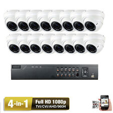 16Ch Tvi 1080P Dvr Sony Cmos 4-in-1 Ahd 2.6Mp Varifocal Security Camera System