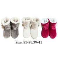 Bootie Boots Womens Ladies Indoor Slippers Full Memory Foam Sizes 3-8 Faux Fur