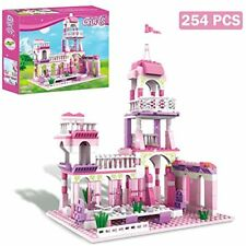 Girls Building Blocks Toys 254 Pieces Princess Castle Pink Palace King&39s Play