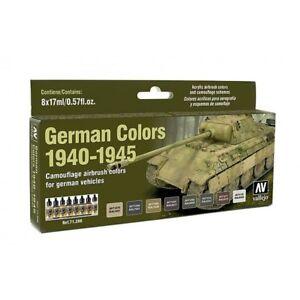 AV Vallejo - German Colors 1940-1945 Acrylic Paint Set # 71206