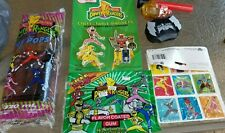 VINTAGE Mighty Morphin Power Rangers lot, gum, pops, magnets stickers