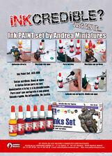 Andrea Miniatures Satin Finish Tinte Set 6 Flaschen