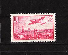 timbre france poste aérienne  avion survolant Paris  num:11  2f50    rose     **