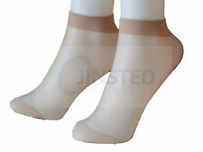 3pk WOMENS WOMANS FEMALE NATURAL SKIN ANKLE POP SOX SOCKS DENIER TIGHTS PS302