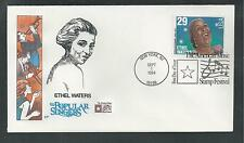 """# 2851 ETHEL WATERS, AMERICAN POPULAR SINGERS 1994 """"HF Cachet"""" First Day Cover"""