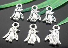 600Pcs Tibetan Silver Penguin Charms Pendants 11x7mm   (Lead-free)